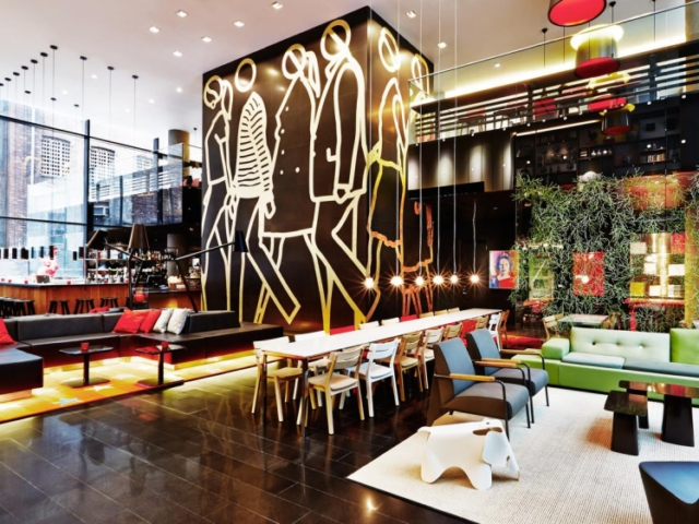 citizenM New York Times Square lobby