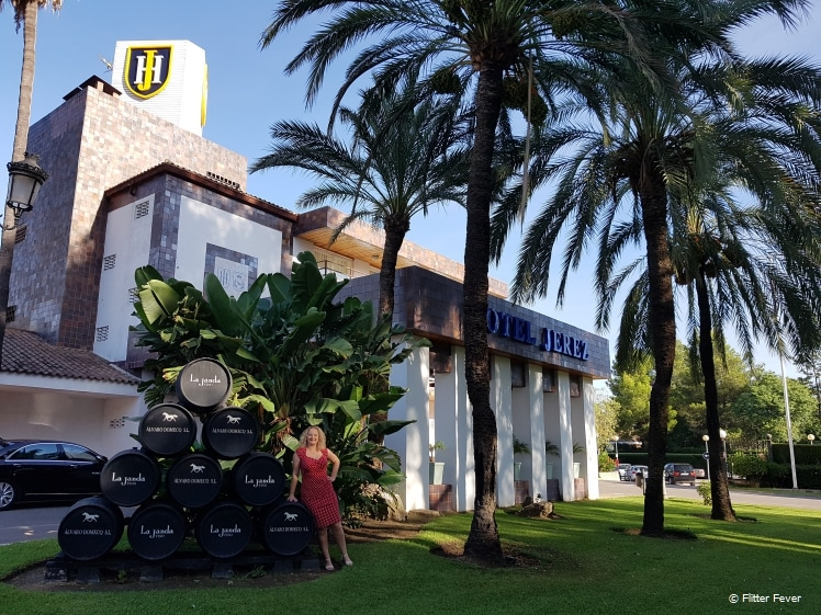 At the front of Hotel Jerez and Spa