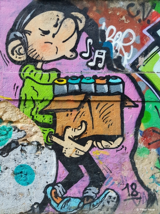 Belgian cartoon hero becomes graffiti artist in Lisbon