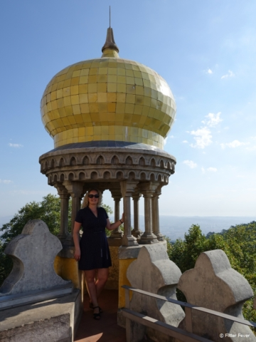 Belvedere with bulbous dome at Pena Palace