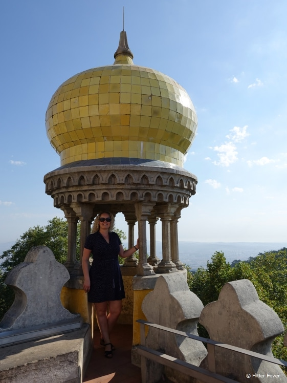 Belvedere with bulbous dome at Pena Palace Sintra