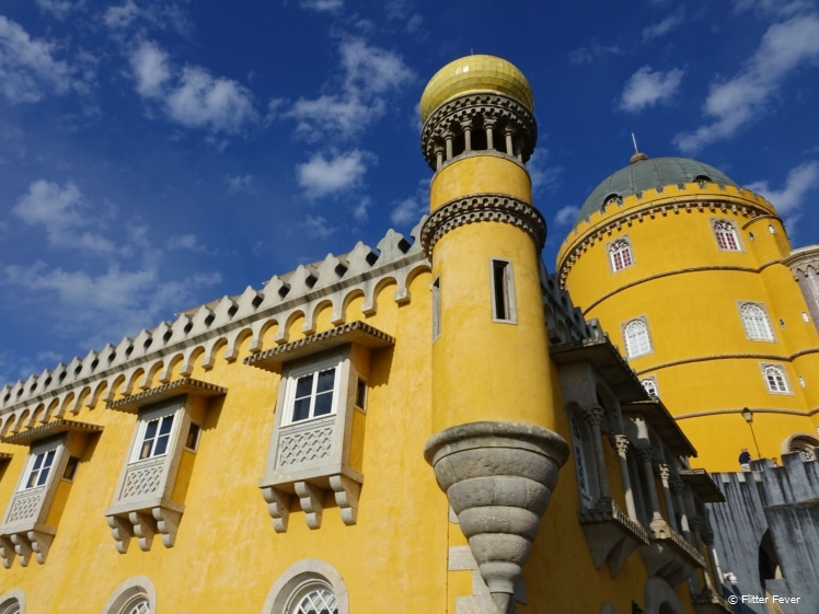 Palace of Pena in full color Sintra