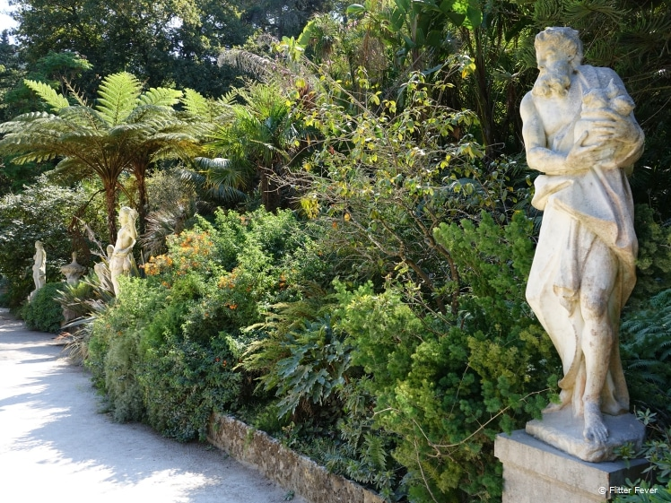 Romantic statues at Quinta de Regaleira Sintra