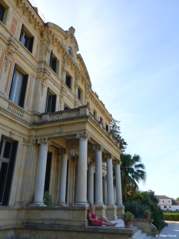Sit back and relax on the back side of Palacio Duque de Abrantes