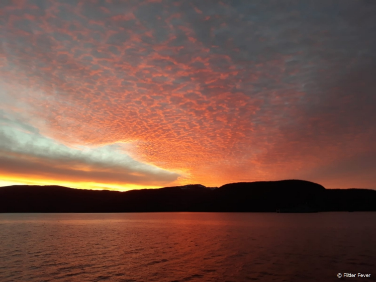 Sunrise at Trondheim Fjords