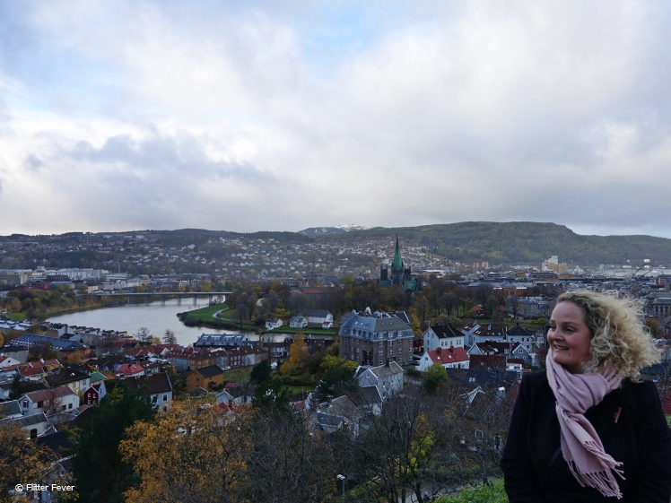 View from Kristiansen Fortress Trondheim