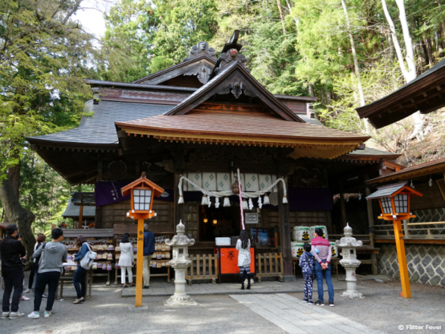Arakura Sengen Shrine temple near Chureito Pagoda