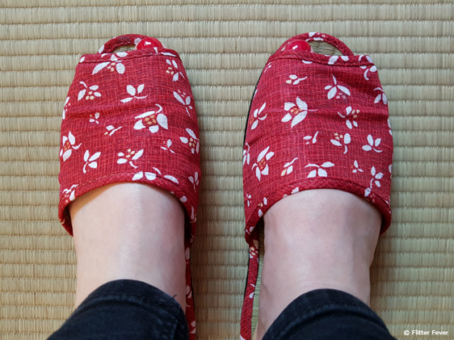 Japanese house shoes are a must to wear