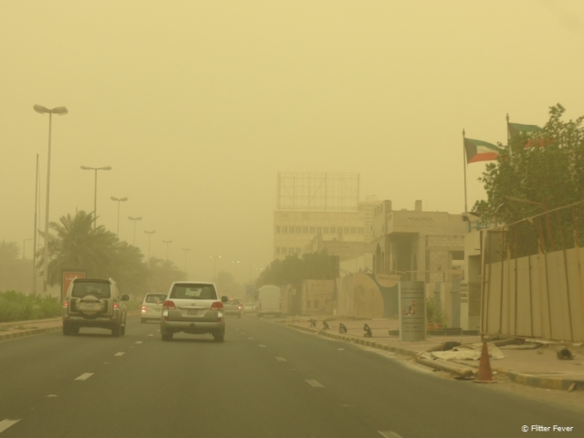 Sand storm in Kuwait City