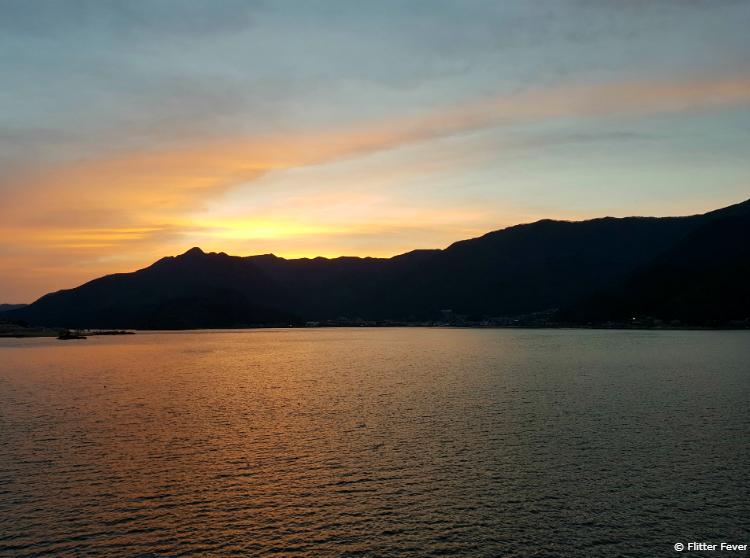 Sunset at Kawaguchi Lake, Japan
