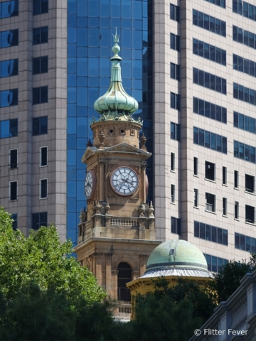 Contrast of architecture in Sydney CBD