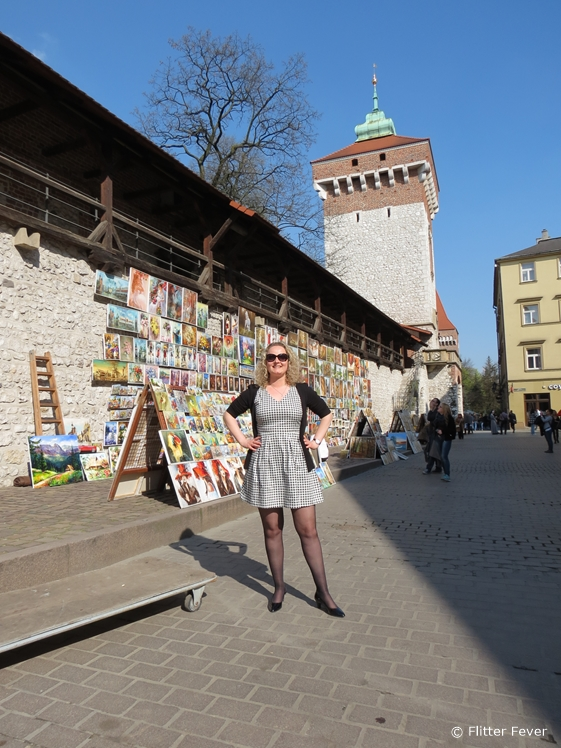Art market next to Florianska Gate Krakow