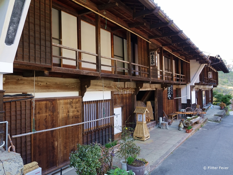 Authentic old houses along Nakasendo Trail