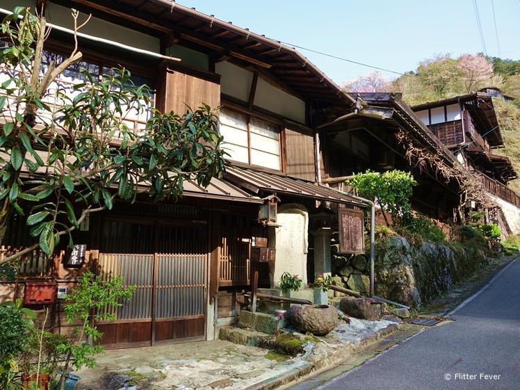 Beautiful traditional houses along Nakasendo Trail Japan