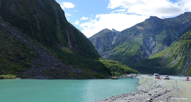Driving up to Fox Glacier Valley