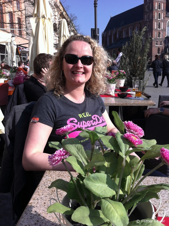 Enjoying a sunny terrace in March in Krakow