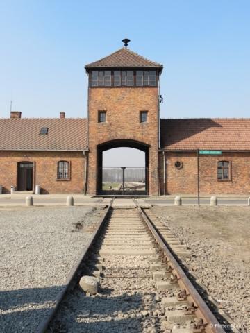 Entrance of Auschwitz-Birkenau (camp 2)