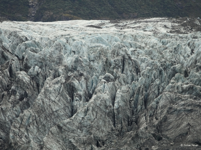 Fox Glacier looks pretty muddy