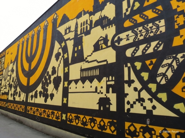 Street art wall at Galicia Jewish Museum in Krakow