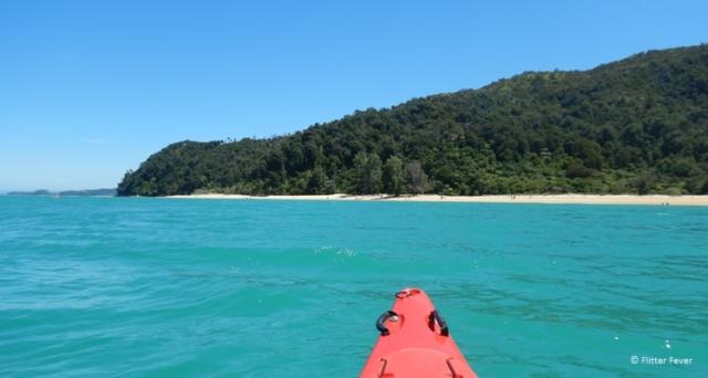 Kayaking near Apple Tree Bay, Abel Tasman NP
