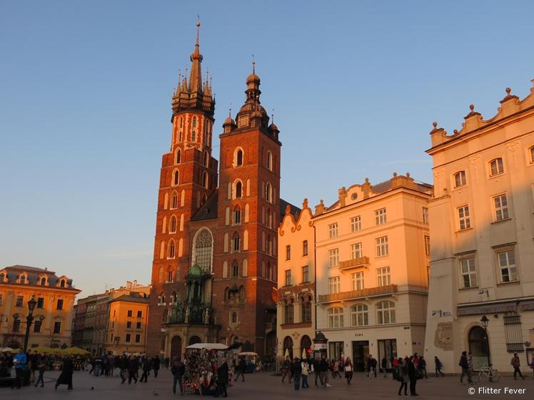 Late afternoon sun at Rynek Główny, Krakow