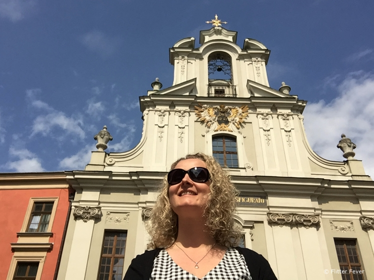 Me at the Lord's Transfiguration Church in Krakow