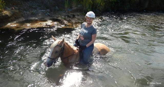One happy shot of Uira and me in Waimaro River
