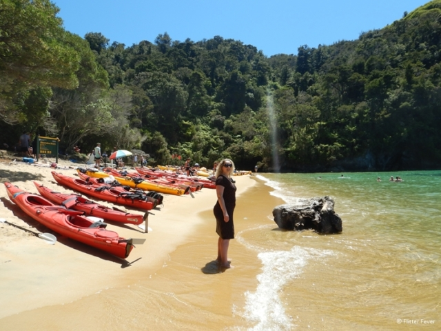 Observation Beach, kayaks and me