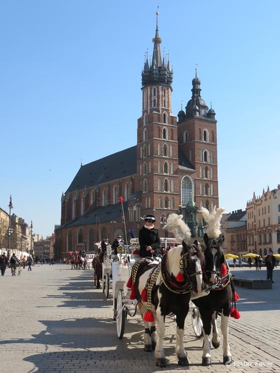 St. Mary's Basilica at Rynek Główny in Krakow