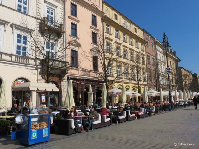 Sunny terraces of Rynek Główny