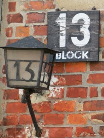 Unlucky number 13, one of the blocks at Auschwitz camp 1