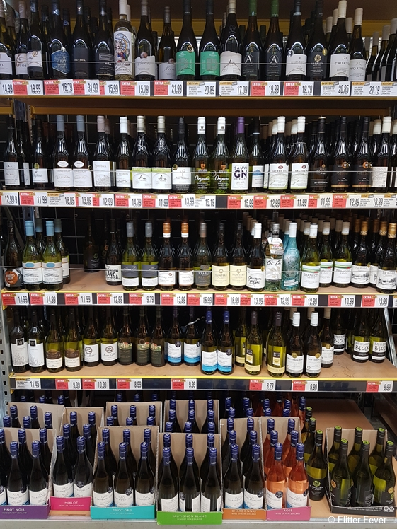 Choice stress in wine isle in Blenheim supermarket