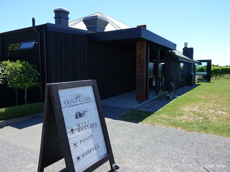 Saint Clair Vineyard Kitchen entrance Blenheim winery