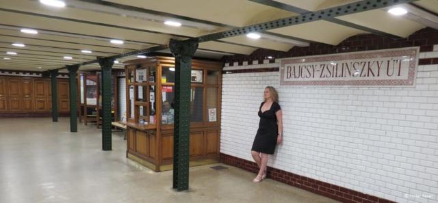 Bajcsy-Zsilinszky út metro station in Budapest