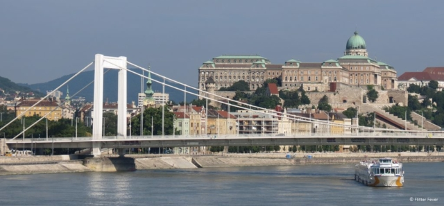 Buda Castle seen from the Danube River Budapest