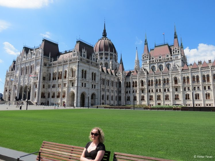 Chilling on a bench at the Hungarian Parliament