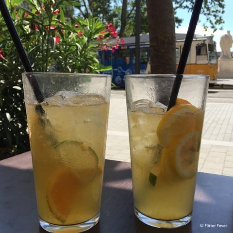 Fresh lemonade at Elysee in Budapest