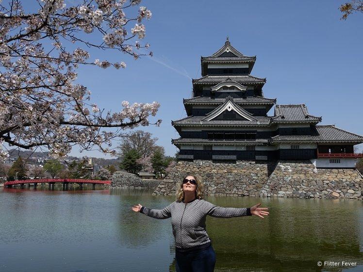 Matsumoto Castle with blossom
