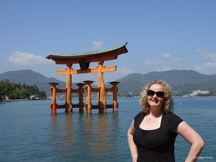 Me at the great floating Torii Miyajima