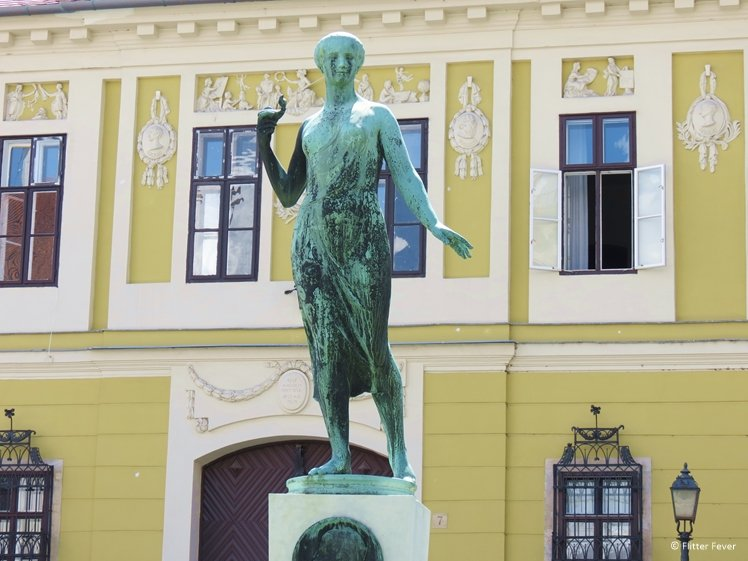 Statue of female in Budapest