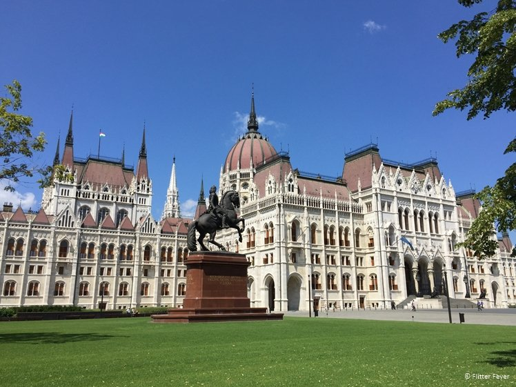The Hungarian Parliament on a sunny day