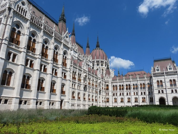 The Hungarian Parliament side view