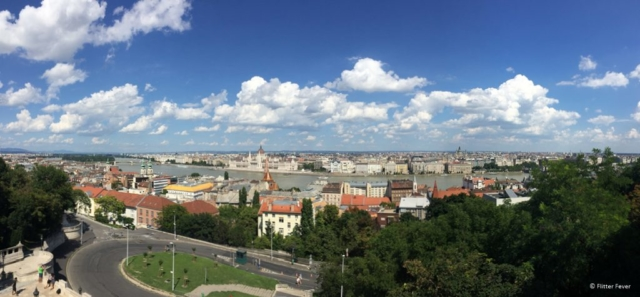View from Fishermens Bastion in Budapest