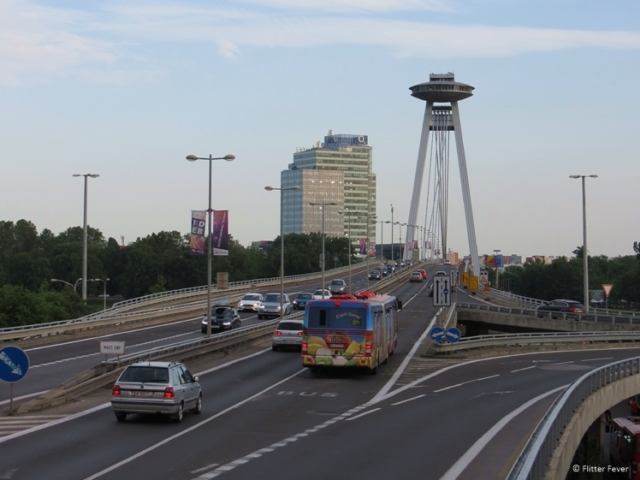 Bratislava can easily be reached by car and bus for example
