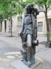 Hans Christian Andersen statue in Bratislava