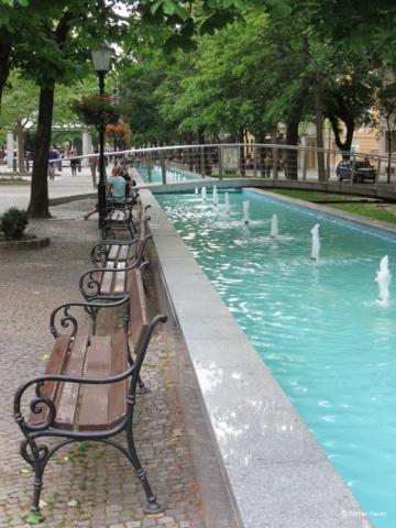 Hviezdoslavovo námestie water stream Bratislava