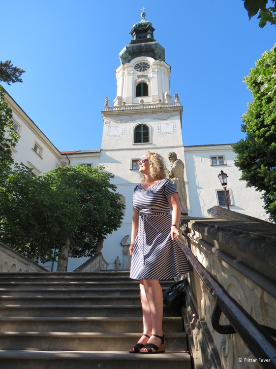 On the stairs of St. Emmeram's Cathedral in Nitra