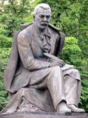 Statue of Slovak poet Mr. Hviezdoslav in Bratislava