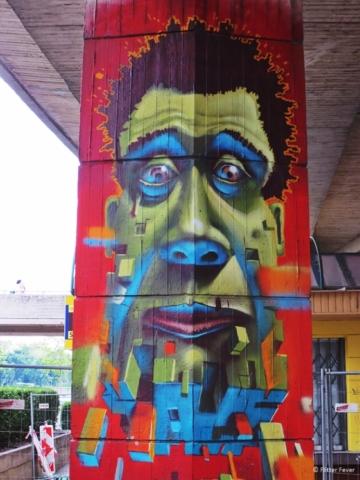 The Green Man graffiti in Bratislava