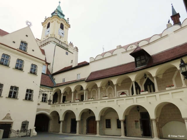 The courtyard of the Museum of City History, Bratislava